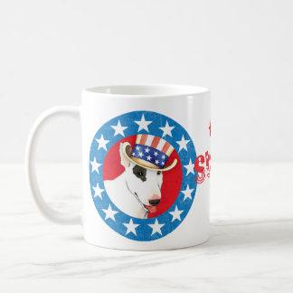 Patriotischer Bullterrier Kaffeetasse