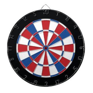 Patriotischer Dartboard - Rot, Weiß u. Blau Dartscheibe