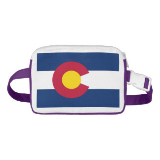 Patriotischer Fanny-Satz mit Flagge von Colorado, Gürteltasche