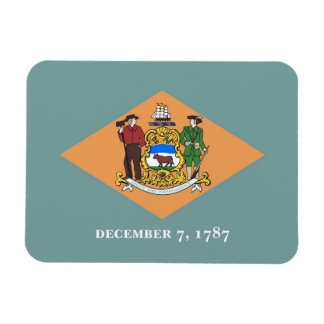 Patriotischer flexibler Magnet mit Delaware-Flagge