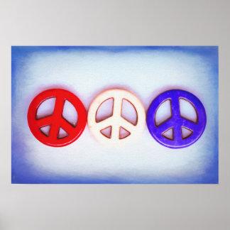 Patriotischer Frieden Poster