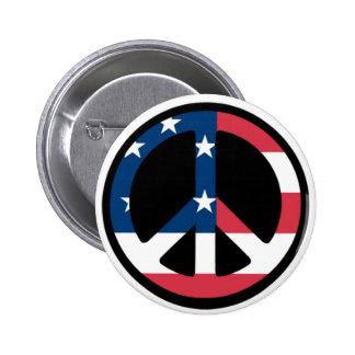 Patriotischer Friedensknopf Runder Button 5,7 Cm