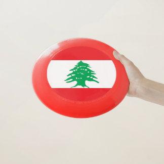 Patriotischer Frisbee mit Flagge vom Libanon