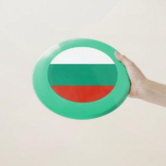 Patriotischer Frisbee mit Flagge von Bulgarien