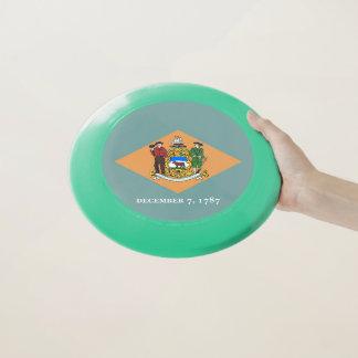 Patriotischer Frisbee mit Flagge von Delaware