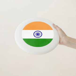 Patriotischer Frisbee mit Flagge von Indien