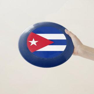 Patriotischer Frisbee mit Flagge von Kuba