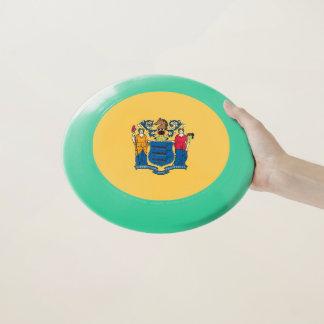 Patriotischer Frisbee mit Flagge von New-Jersey