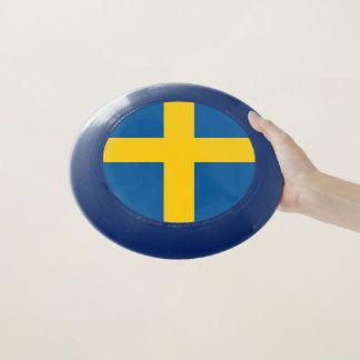 Patriotischer Frisbee mit Flagge von Schweden