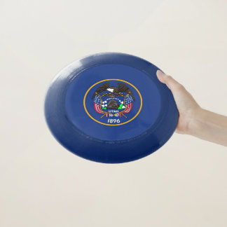 Patriotischer Frisbee mit Flagge von Utah