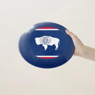 Patriotischer Frisbee mit Flagge von Wyoming