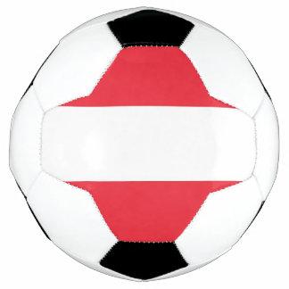 Patriotischer Fußball mit Österreich-Flagge