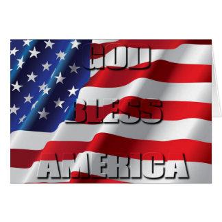Patriotischer Gott segnen Amerika auf der Karte