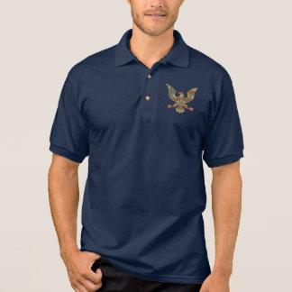 Patriotischer Gott segnen amerikanische Flagge Polo Shirt
