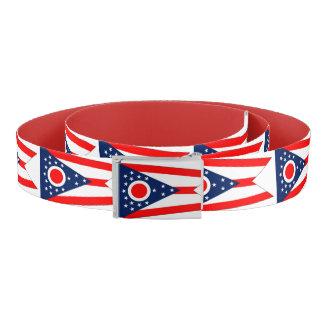 Patriotischer Gurt mit Flagge von Ohio, USA Gürtel