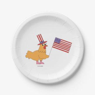 Patriotischer Huhn-Papier-Teller Pappteller