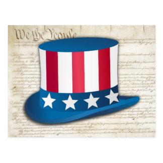 Patriotischer Hut Postkarte