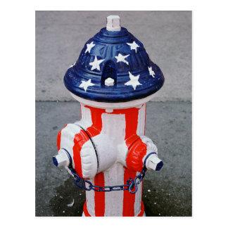 Patriotischer Hydrant Postkarte