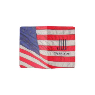 Patriotischer Initialen-Pass-Halter, amerikanische Passhülle