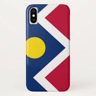 Patriotischer Iphone X Fall mit Flagge von Denver iPhone X Hülle