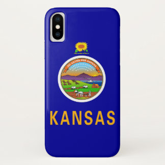 Patriotischer Iphone X Fall mit Flagge von Kansas iPhone X Hülle