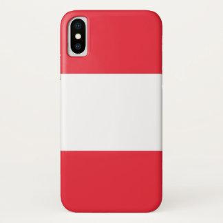 Patriotischer Iphone X Fall mit Österreich-Flagge iPhone X Hülle