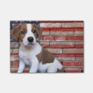 Patriotischer Jack-Russel-Terrier Post-it Klebezettel