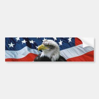 Patriotischer kahler Adler-amerikanische Autoaufkleber