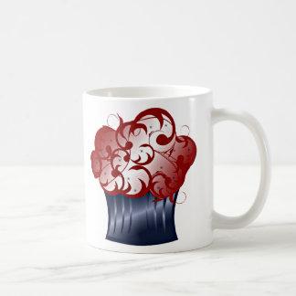 Patriotischer kleiner Kuchen Tee Tasse