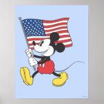 Patriotischer Mickey Mouse 1 Posterdrucke