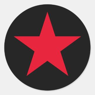 Patriotischer Militärarmee-Kriegs-rotes Runder Aufkleber