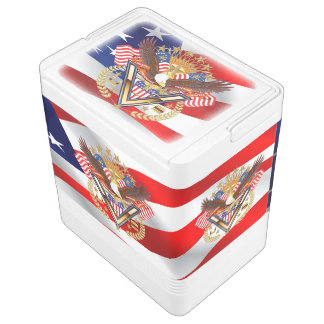 Patriotischer oder Veteranen-Iglu 24 kann cooler Igloo Kühlbox