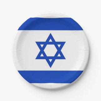 Patriotischer Pappteller mit Flagge von Israel