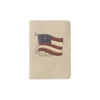Patriotischer Pass-Americanahalter Passhülle