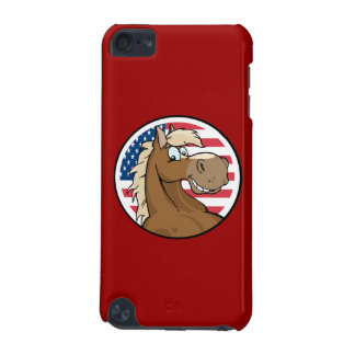 Patriotischer Pferdeipod-Touch-Fall iPod Touch 5G Hülle