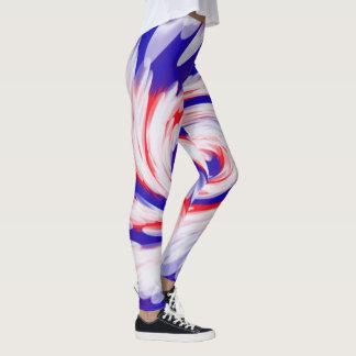Patriotischer roter weißer blauer abstrakter leggings