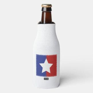 Patriotischer roter weißer blauer amerikanischer flaschenkühler