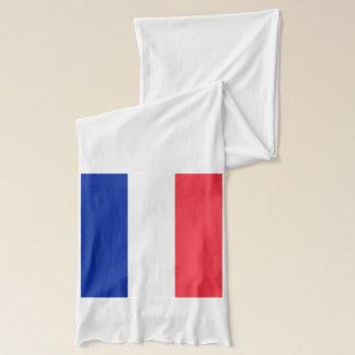 Patriotischer Schal mit Flagge von Frankreich