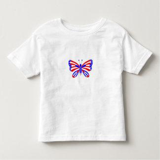 Patriotischer Schmetterling Kleinkind T-shirt