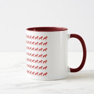 Patriotischer Schnauzer dog/USA Tasse