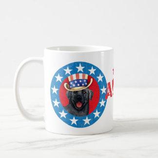 Patriotischer schwarzer Labrador Kaffeetasse