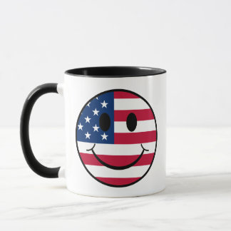 Patriotischer smiley tasse