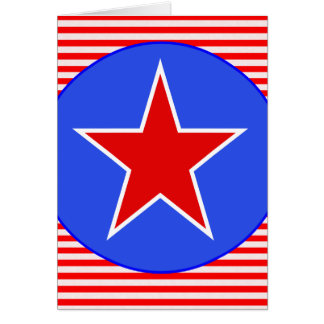 patriotischer Stern Karte