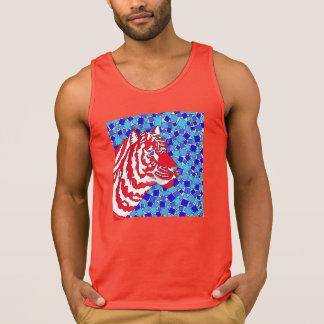 Patriotischer Tiger-Spaß-T - Shirt