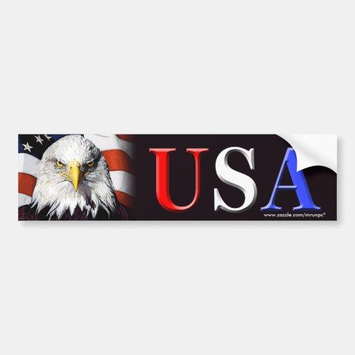 """Patriotischer """"USA-Adler"""" Autoaufkleber"""