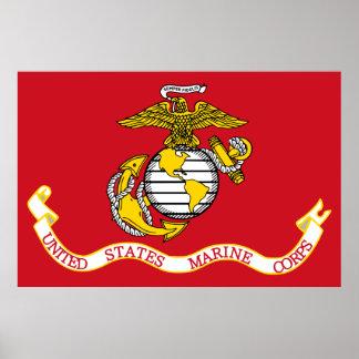 Patriotischer USMC kennzeichnen Poster