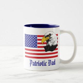 Patriotischer Vati-/Vatertag Zweifarbige Tasse