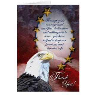 Patriotischer Weißkopfseeadler danken Ihnen zu Karte