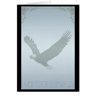"""Patriotischer Weißkopfseeadler """"wir die Leute"""" Grußkarte"""