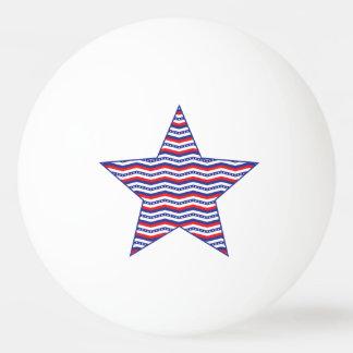 Patriotischer Zickzack Stern Tischtennis Ball